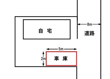 車庫証明・配置図例1